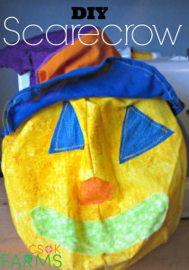 DIY Scarecrow from start to finish - complete with the flippy floppy hat