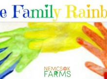 Family Day Art Project Handprint Rainbows
