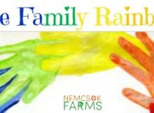 Family Day Art Project Handprint Rainbows