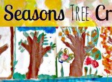 All Seasons Handprint Tree Keepsake Kids' Craft Inspired by Nature
