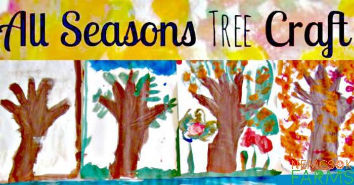 All Seasons Handprint Tree Keepsake Kids' Craft Inspired by Nature