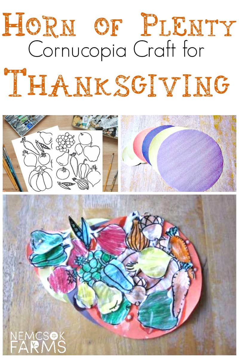 Horn of Plenty Cornucopia Craft for Kids ( and adults!) for Thanksgiving