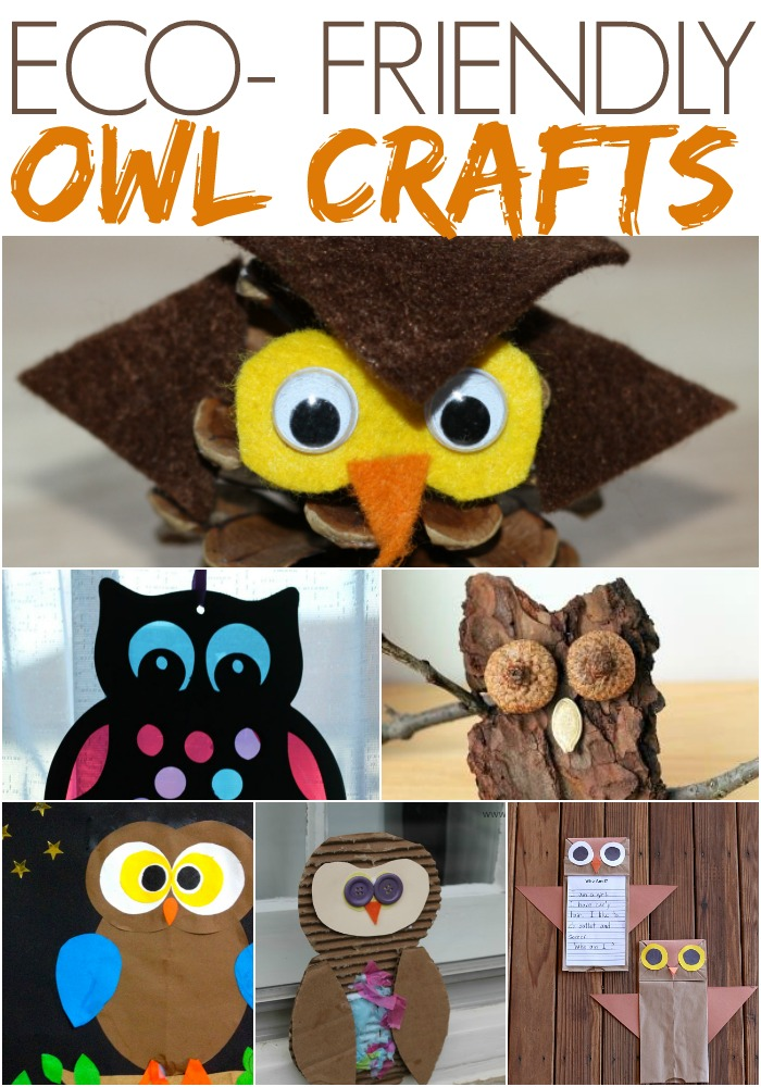 Eco Friendly Owl Crafts - using natural and or recyclable materials