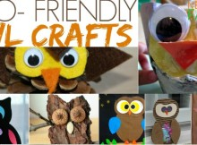 Eco Friendly Owl Crafts made from natural and recyclable materials