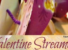 Valentine Streamers made from recycled gift wrap paper.