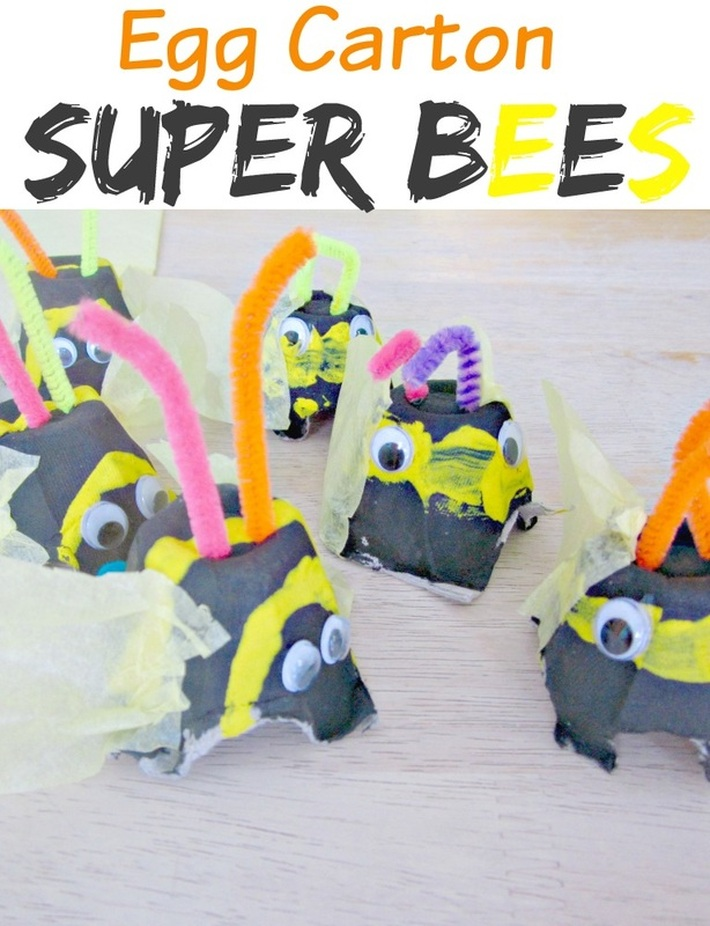 Egg Carton Bumble Bees