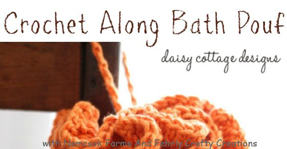 DIY Bath Pouf for Mother's Day - complete witha crochet tutorial