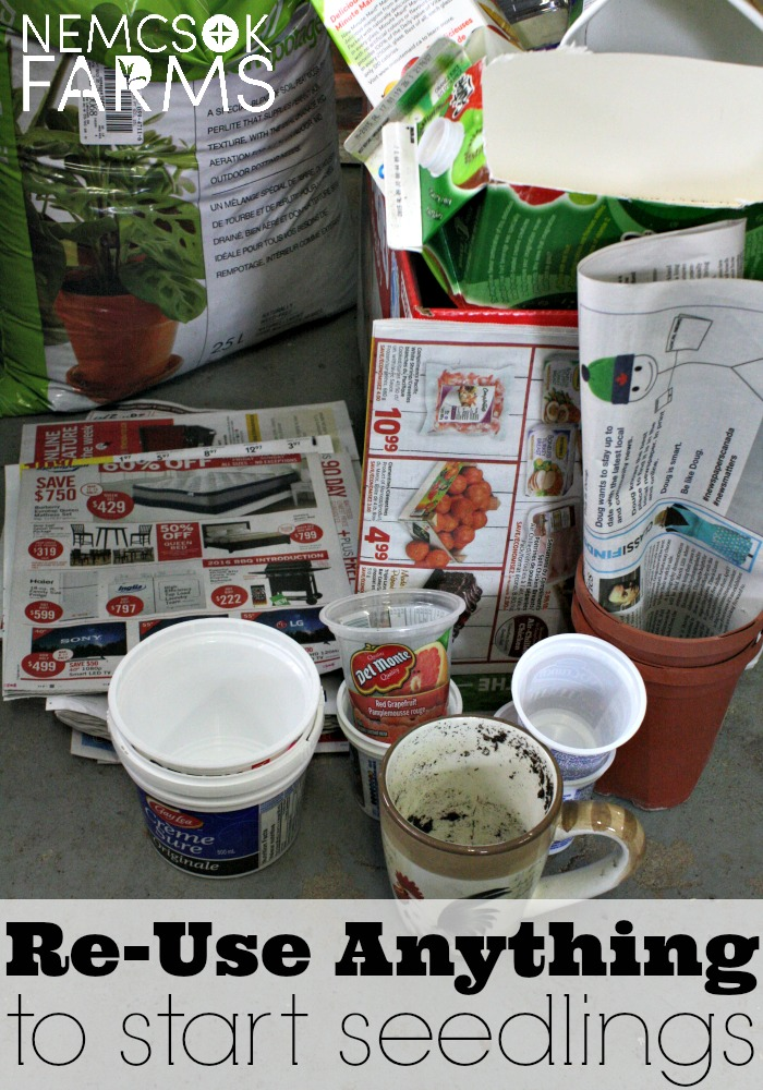 Upcycle, Recycle, Reuse Anything and Everything from newspaper to plastic jugs to start your seedlings