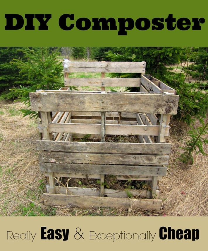 Super Easy Super Cheap DIY Composter Pallet Project