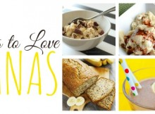 51 ways to love bananas, in breads, muffins, scones, cookies, squared, brownies, cakes, waffles, pancakes, even. Ice. Cream.