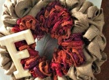 DIY Burlap Wreath Tutorial
