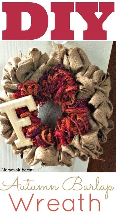 DIY Autumn Burlap Wreath post thumbnail image