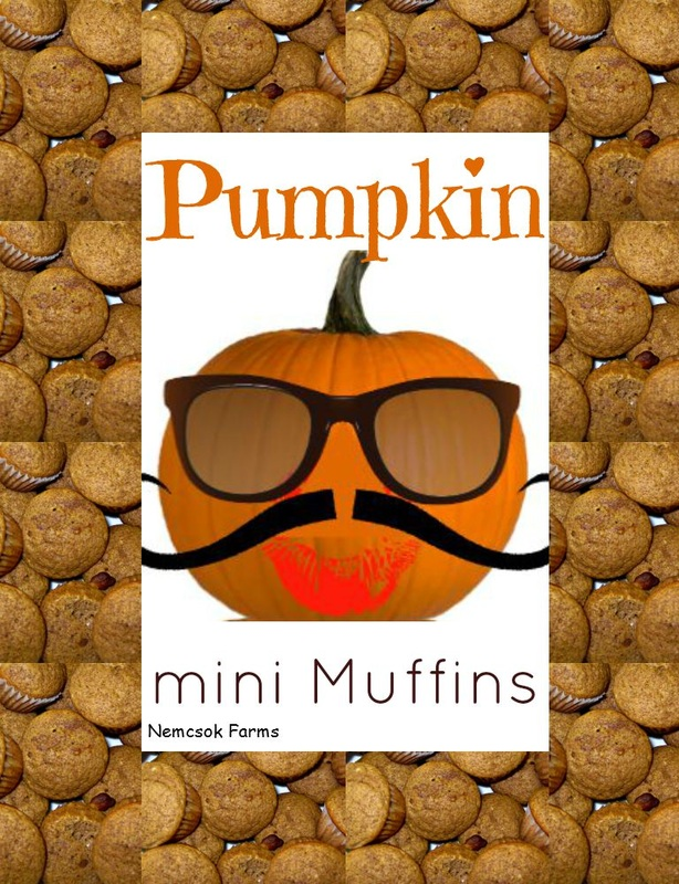Mini Muffins made with Pureed Pumpkin ( that you grew yourself, and preserved yourself, too, right? )