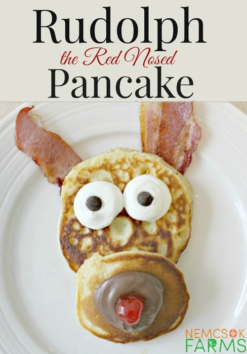 Rudolph the Red Nosed Pancakes Holiday Recipes