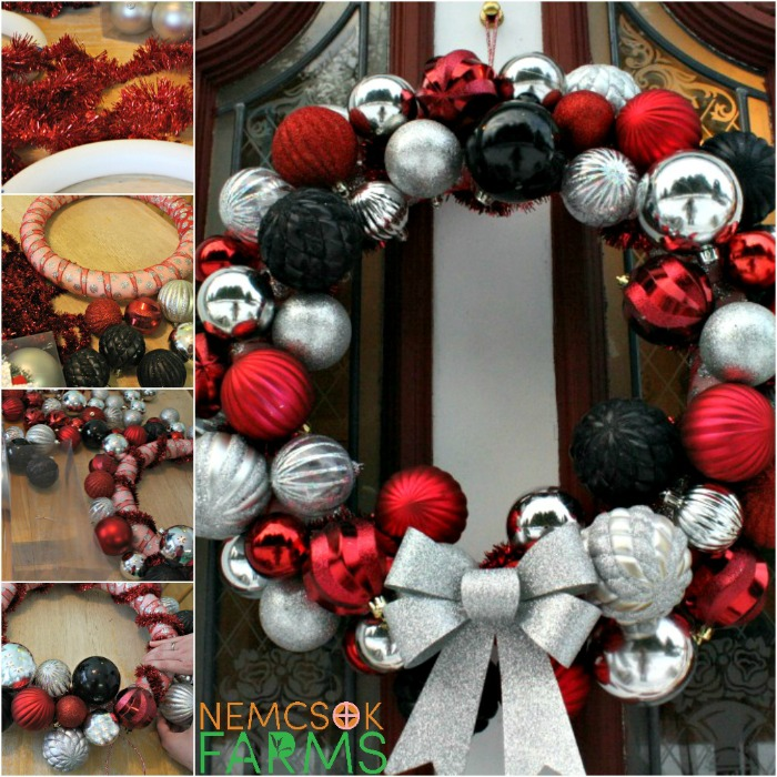 DIY Christmas Ball Wreath for your festive holiday season