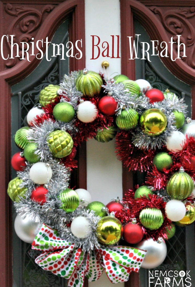 Diy Holiday Decor Christmas Ball Wreath Nemcsok Farms