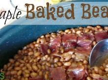 Baked Beans with Maple and Bacon A family tradition. Get this in the oven in the morning, let it cook all day, and anticipation will keep you going until supper!