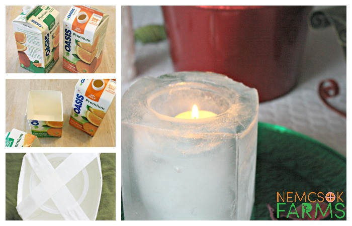 Elegant and Really Simple Ice Lanterns Made from recyclable materials, and sure to light up your path
