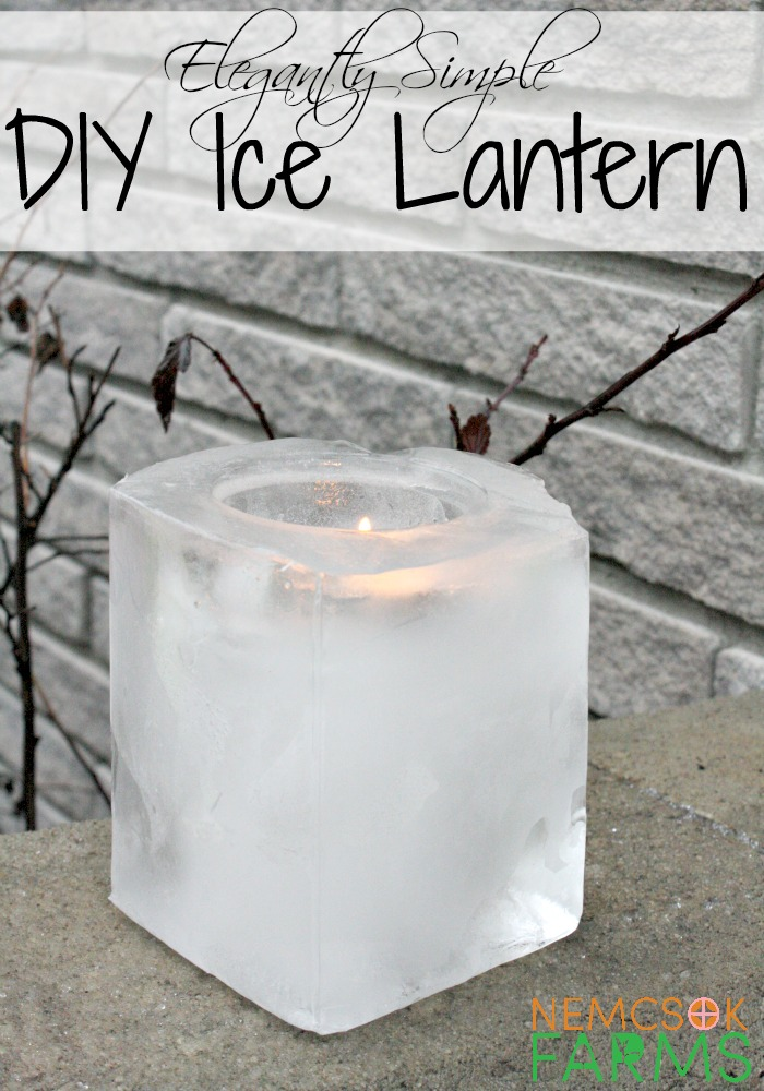Simple and Elegant Ice Lanterns made from recyclables, perfect for lighting up your garden paths and walkways