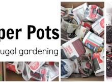 Frugal Paper Pots