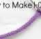 Make an I-Cord with whatever yarn you like, and use it to make whatever you like