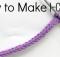 Make an I-Cord with whatever yarn you like, and use it to make whatever you like