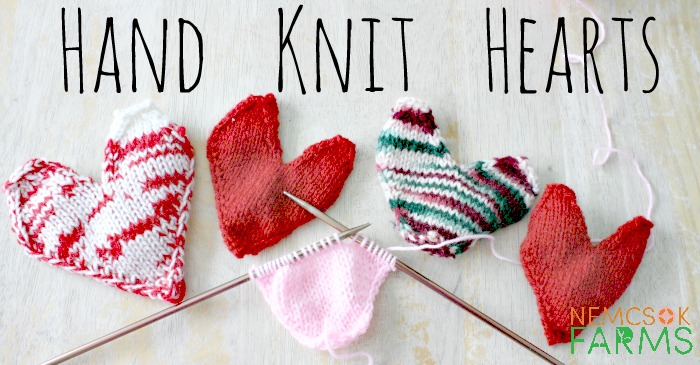 Quick Hand Knit Hearts for Valentine's Day post thumbnail image