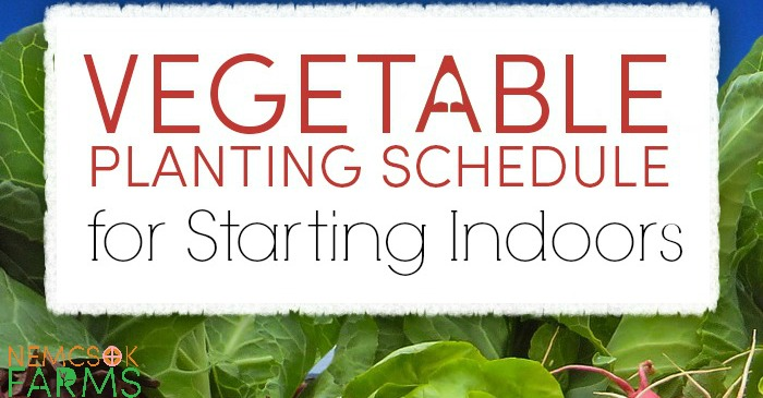 Schedule for Starting Seeds Indoors