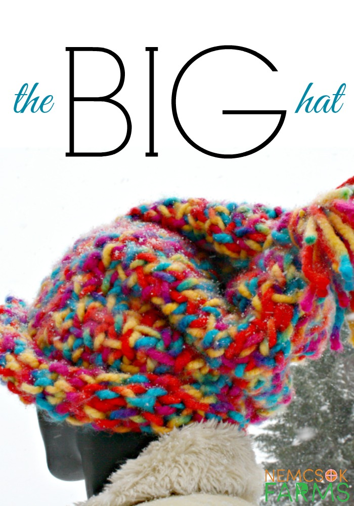 Big Colour, Big Stitches, Big Fun the Big Hat Free Knitting Pattern and Tutorial