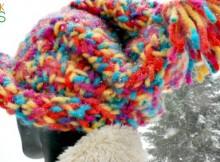 Big Colour, Big Stitches, Big Fun the Big Hat Free Knitting Pattern and Tutorial