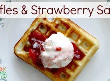 Homemade Waffles with a delightful strawberry sauce - not just for breakfast