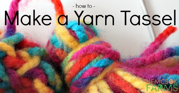 How to Make a Yarn Tassel - the simplest embelishment