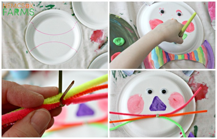 Easter Bunny Paper Plate Craft for Kids and Families to celebrate and decorate for Easter