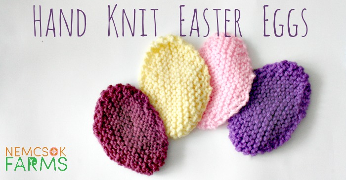 Hand Knit Easter Eggs - Nemcsok Farms