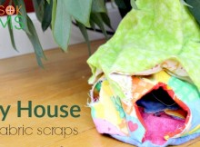 DIY Fairy House with fabric scraps