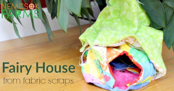 Scrap Fabric Fairy House post thumbnail image