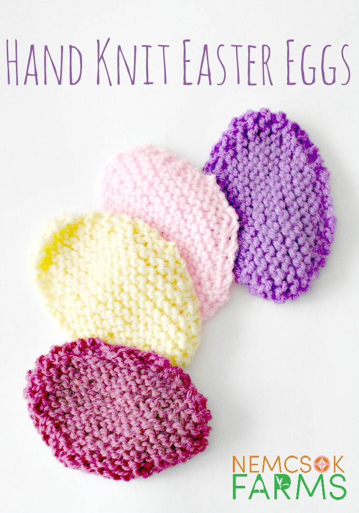 Hand Knit Easter Eggs Nemcsok Farms