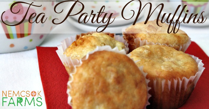 Tea Party Banana and White Chocolate Mini Muffin Recipe for Easter, Mother's Day, and Spring celebrations