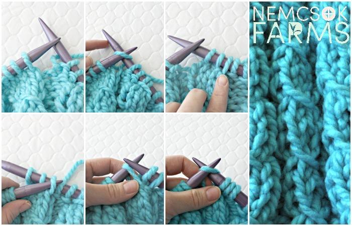 One Hour Rainbow Twist Neck warmer Knitting pattern
