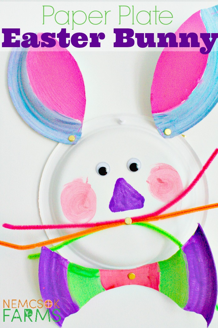 Easter Bunny Paper Plate Craft for Kids and Families to celebrate and decorate for Easter  sc 1 st  Nemcsok Farms & Paper Plate Easter Bunny - Nemcsok Farms
