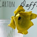 Upcycle Egg Cartons into Beautiful Daffodils for a fun kid's craft to celebrate spring and nature