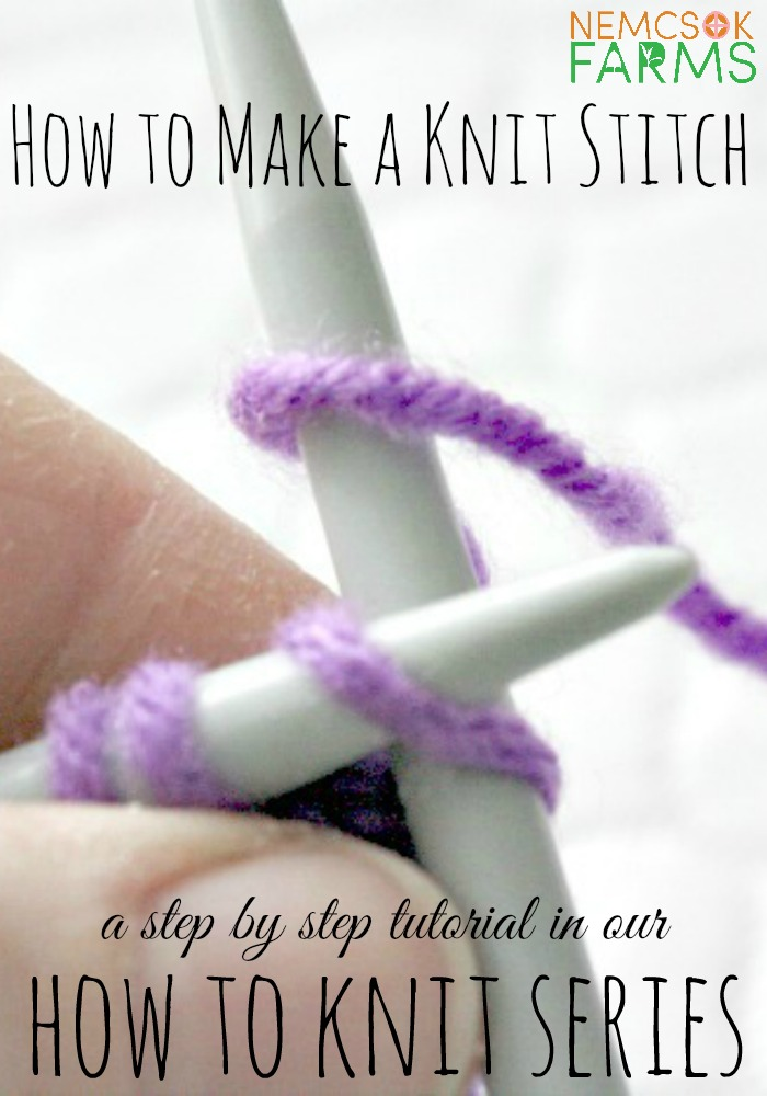 How to Make a Knit Stitch. Part 2 of a step by step tutorial on the basic stitches of knitting.
