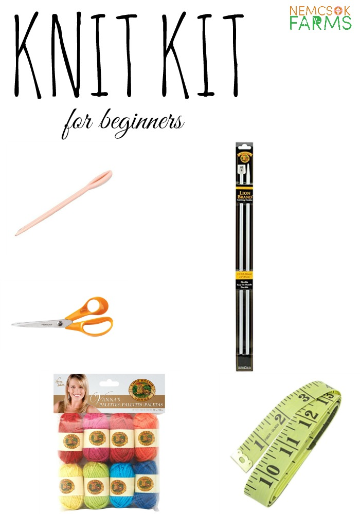 Knit Kit of essentials for new beginners. These are things that you will actually need , and you will find them useful