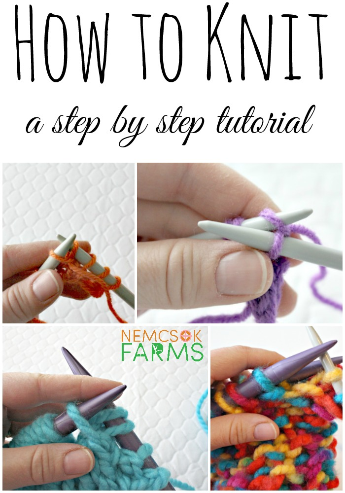 How To Cast Off Stitches When Knitting : How to Knit Part 1: How to Cast On - Nemcsok Farms