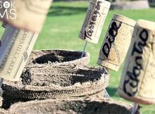 DIY Wine Cork Garden Markers for Herb Gardens
