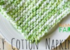 DIY Cotton Napkin free knitting pattern for eco-friendly living