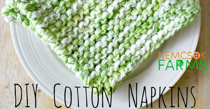 DIY Cotton Napkin free knitting pattern for eco-friendly living