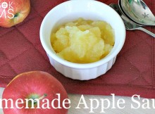 Homemade Apple Sauce Recipe for a quick and easy and healthy totally doable snack