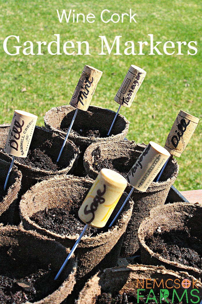 DIY Wine Cork Garden Markers for Herb Gardens