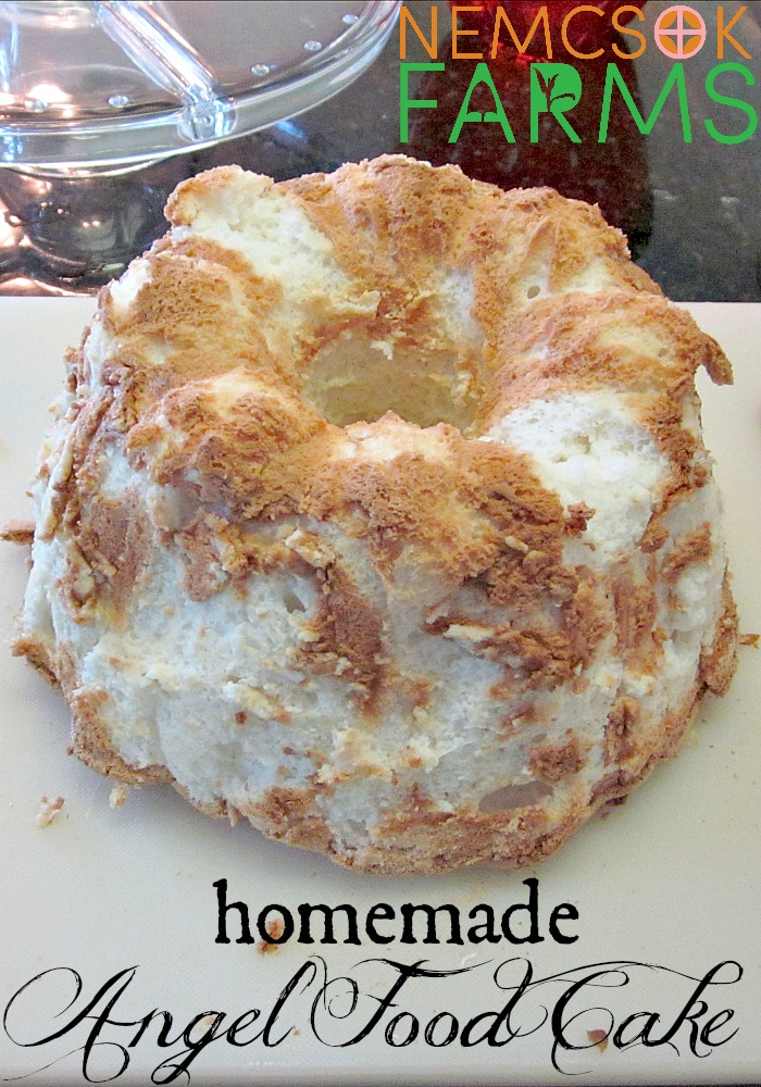 Homemade Angel Food Cake from scratch - healthy and delicious and not nearly as hard as you might think!